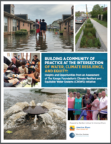 Building a Community of Practice at the Intersection of Water, Climate Resilience and Equity