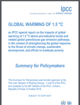 IPCC Special Report on Global Warming of 1.5°C - Summary for Policymakers