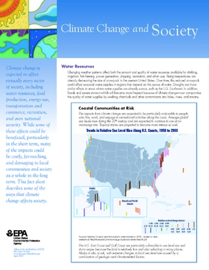 EPA Fact Sheet: Climate Change and Society
