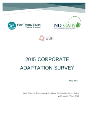 State of Corporate Adaptation Survey 2015