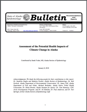 Assessment of the Potential Health Impacts of Climate Change in Alaska
