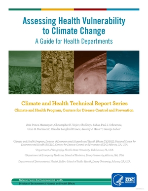 CDC: Assessing Vulnerability to Climate Change - A Guide for Health Departments