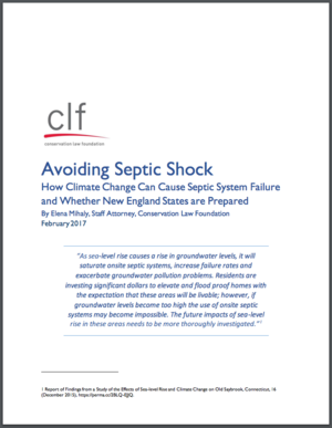 Avoiding Septic Shock: How Climate Change can cause Septic System Failure and Whether New England States are Prepared