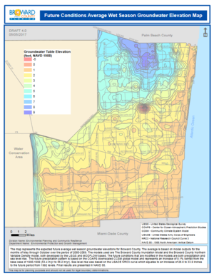 Broward County, Florida Ordinance 2017-16 and Future Conditions Maps for Infrastructure Design