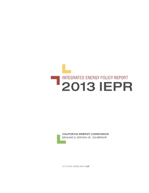 California Energy Commission Integrated Energy Policy Report