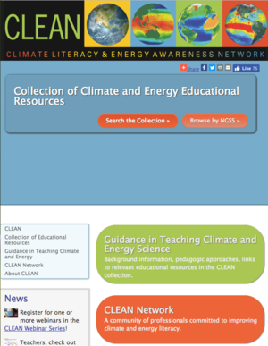 Climate Literacy and Energy Awareness Network (CLEAN) and Portal