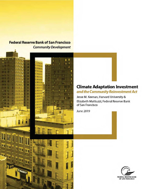 Climate Adaptation Investment and the Community Reinvestment Act