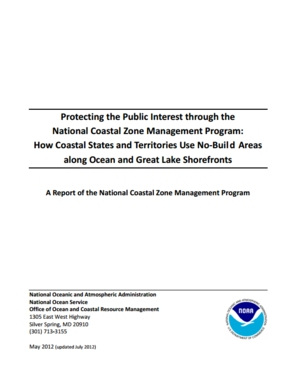Protecting the Public Interest through the National Coastal Zone Management Program: How Coastal States and Territories Use No-Build Areas along Ocean and Great Lake Shorefronts