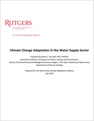 Climate Change Adaptation in the Water Supply Sector - New Jersey