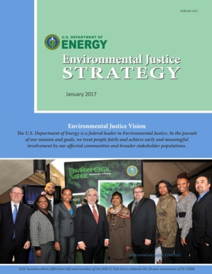 2016  U.S. Department of Energy Environmental Justice Strategy