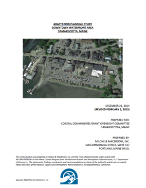 Damariscotta, Maine Adaptation Planning Study: Downtown Waterfront Area