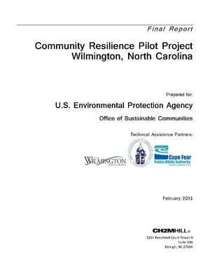 EPA Community Resilience Pilot Project Wilmington, North Carolina