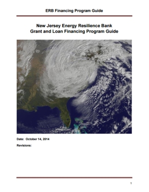 New Jersey Energy Resilience Bank Grant and Loan Financing Program Guide