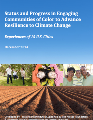 Status and Progress in Engaging Communities of Color to Advance Resilience to Climate Change: Experience of 15 U.S. Cities