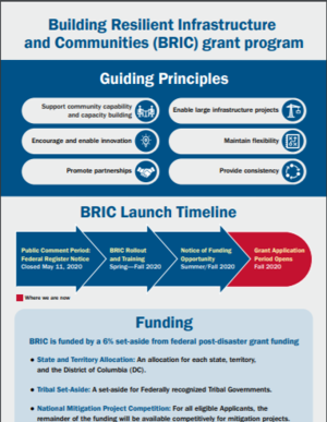 FEMA Building Resilient Infrastructure and Communities (BRIC) Grant Program