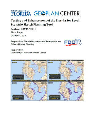 Florida Sea-level Rise Sketch Planning Tool for Transportation