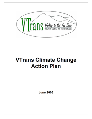 Vermont Agency of Transportation (VTrans) Climate Change Action Plan