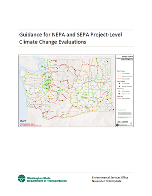 Washington State DOT (WSDOT) Guidance for Project-Level Climate Change Evaluation