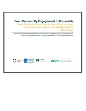 From Community Engagement to Ownership: Tools for the Field with Case studies of Four Municipal Community-Driven Environmental and Racial Equity Committees