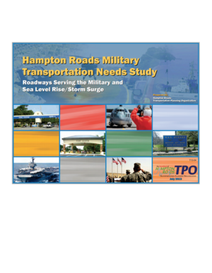 Hampton Roads Military Transportation Needs Study: Roadways Serving the Military and Sea Level Rise/Storm Surge
