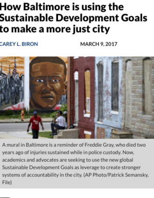 How Baltimore is using the Sustainable Development Goals to make a more just city