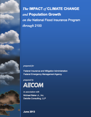 The Impact of Climate Change and Population Growth on the National Flood Insurance Program Through 2100