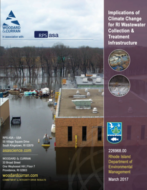 Implications of Climate Change for Rhode Island Wastewater Collection and Treatment Infrastructure