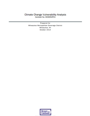 Climate Change Vulnerability Analysis for the Milwaukee Metropolitan Sewage District