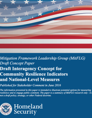 FEMA, NOAA Draft Interagency Concept for Community Resilience Indicators and National-Level Measures