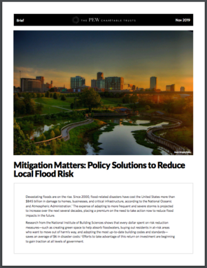 Mitigation Matters: Policy Solutions to Reduce Local Flood Risk
