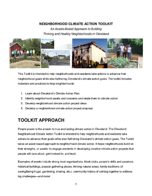 Cleveland Neighborhood Climate Action Toolkit