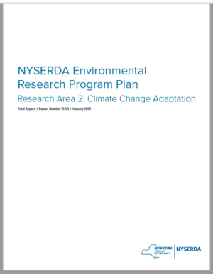 NYSERDA Climate Change Adaptation Research Plan