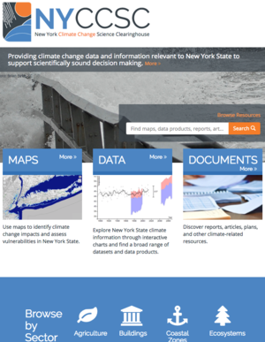 New York Climate Change Science Clearinghouse: Tools to Help Communities Prepare for Extreme Weather