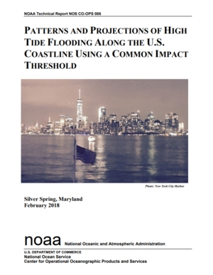 Patterns and Projections of High Tide Flooding Along the U.S. Coastline Using a Common Impact Threshold