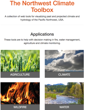 The Northwest Climate Toolbox