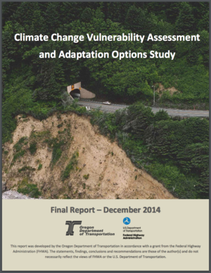 Climate Change Vulnerability Assessment and Adaptation Options Study for Oregon