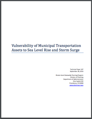 Rhode Island: Vulnerability of Municipal Transportation Assets to Sea Level Rise and Storm Surge