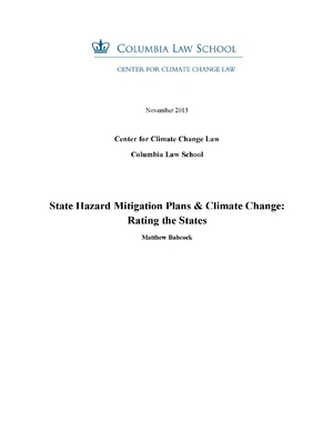 State Hazard Mitigation Plans and Climate Change: Rating the States