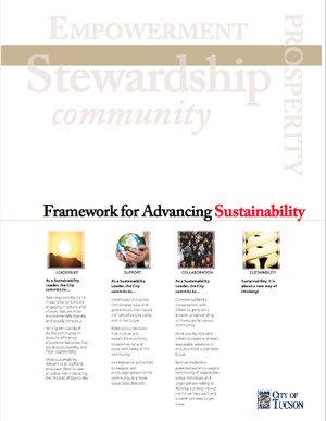 City of Tucson, Arizona Framework for Advancing Sustainability