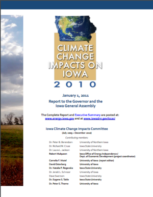 Climate Change Impacts on Iowa 2010