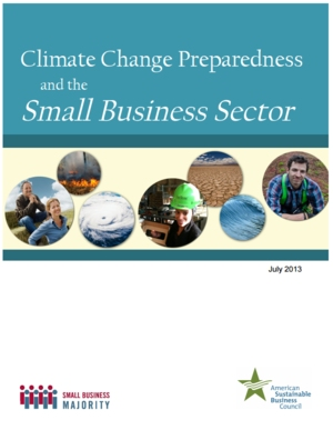 Climate Change Preparedness and the Small Business Sector