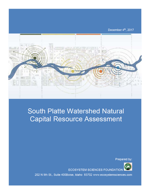 South Platte Watershed Natural Capital Resource Assessment