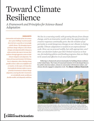 Toward Climate Resilience: A Framework and Principles for Science-Based Adaptation