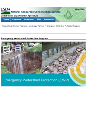 USDA NRCS Emergency Watershed Protection Program