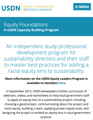 Equity Foundations: USDN Capacity Building Program