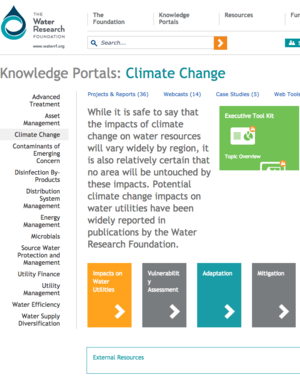 Water Research Foundation Climate Change Knowledge Portal