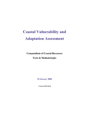 Coastal Vulnerability and Adaptation Assessment: Compendium of Coastal Resources Tools and Methodologies
