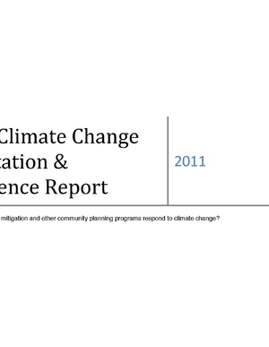 Iowa Climate Change Adaptation and Resilience Report – Findings Related to Infrastructure