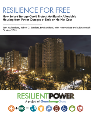 Resilience for Free: How Solar+Storage Could Protect Multifamily Affordable Housing from Power Outages at Little or No Net Cost