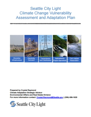 Seattle City Light Climate Change Vulnerability Assessment and Adaptation Plan